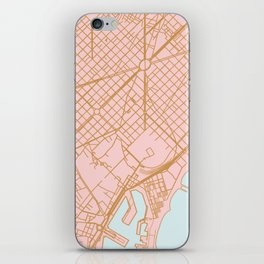 Barcelona map, Spain iPhone Skin