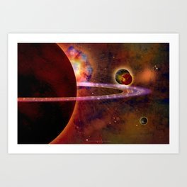 TWO MOONS - 336 Art Print