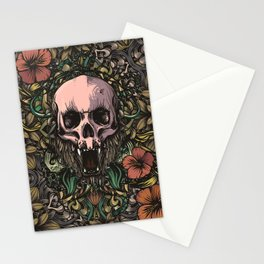 Skull in jungle Stationery Cards