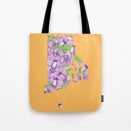 Rhode Island in Flowers Tote Bag