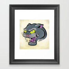 Panther Tattoo Flash Framed Art Print