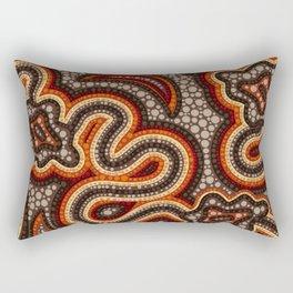 Dot Art Aboriginal Australian Inspired #1 Rectangular Pillow