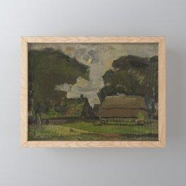 Piet Mondrian - Farmstead under oak trees I Framed Mini Art Print