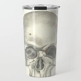 Vintage Skull - Black and White Drawing Travel Mug