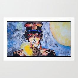 Corto with cigar Art Print