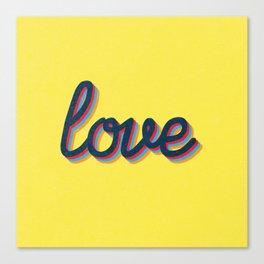 Love - yellow version Canvas Print