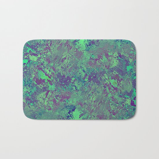 Cool And Calm - Abstract blue and purple painting, icy, chilled out, calming, relaxing artwork Bath Mat