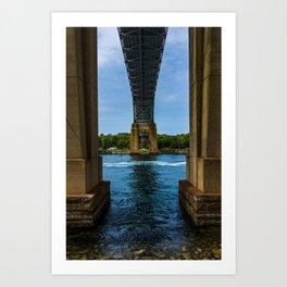 Bourne Bridge From Below Art Print