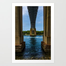 Bourne Bridge From Below Art Print