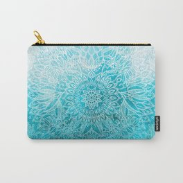 Fade to Teal - watercolor + doodle Carry-All Pouch