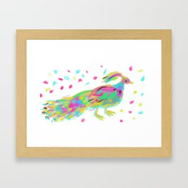 Funky birdo Framed Art Print
