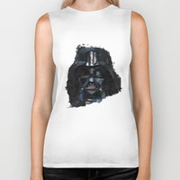 darth vader Biker Tanks featuring Darth Vader by BarLevitsky