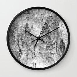 The invert image of jungle trees scene Wall Clock