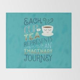 Tea is a Journey Throw Blanket
