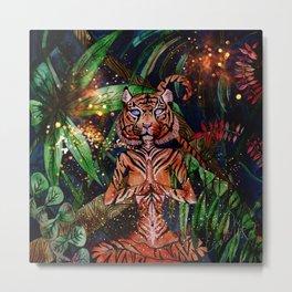 Mystic Tigress Metal Print