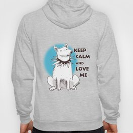 cartoon style dog keep calm and love me Hoody
