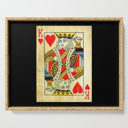 King Of Hearts Card Deck Old Serving Tray