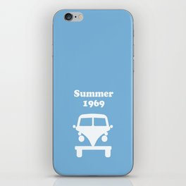 Summer 1969 -  lt. blue iPhone Skin