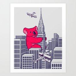 Koala Kong Art Print