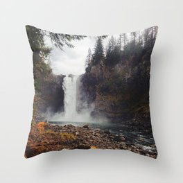 Snoqualmie Falls, WA Throw Pillow