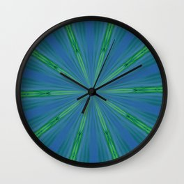 Green Warp design Wall Clock