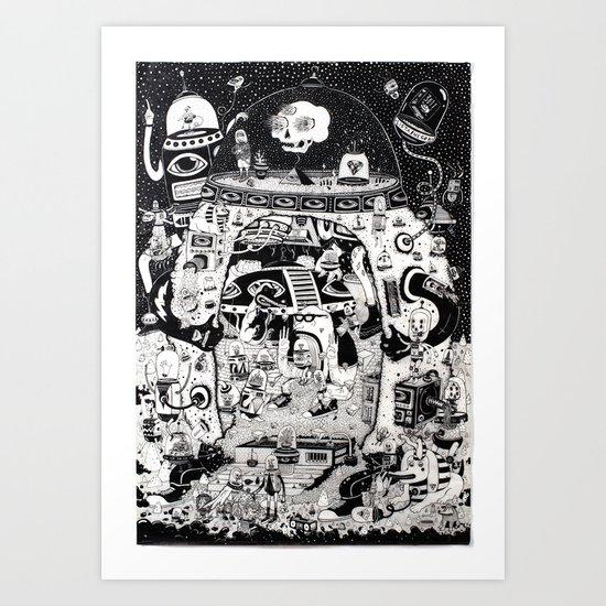 contacto real Art Print