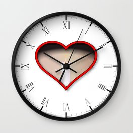 Love Candles Wall Clock