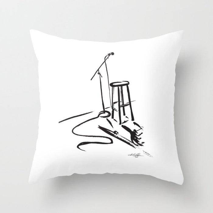 Open Mic by Kathy Morton Stanion Throw Pillow