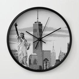 NYC Poster Print [Black and White] Wall Clock