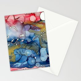 Reef of Rose and Prussian Stationery Cards
