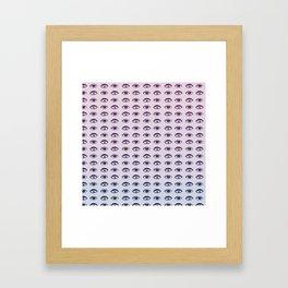 Eyes Pastel Framed Art Print