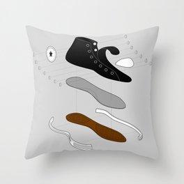 Converse deconstruct Throw Pillow