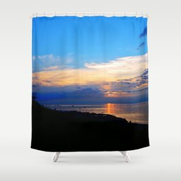 Sunset Balcony silhouette Shower Curtain