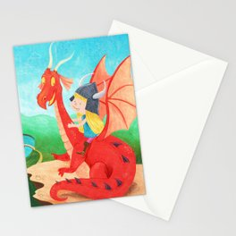 The Girl and The Dragon Stationery Cards
