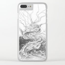Twisted tree Clear iPhone Case