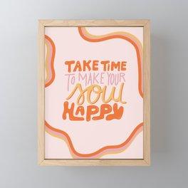 Happy Soul Framed Mini Art Print