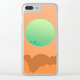 To The Moon II Clear iPhone Case