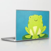 frog Laptop & iPad Skins featuring Frog by Claire Lordon