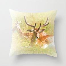Deer at rest Throw Pillow