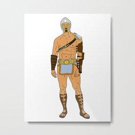 Gladiator Warrior 4 Metal Print