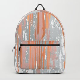 Abstract ink. Gray. metallic. orange. abstract. .minimalist. line. minimalism. lines. Backpack