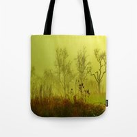 fairies Tote Bags featuring Fairies Nebula by Stephanie Koehl