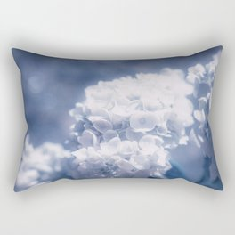 Grace and Beauty Defined a blue Hydrangea flower Rectangular Pillow