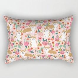 Corgi Florals - vintage corgi and florals gift gifts for dog lovers, corgi clothing, corgi decor, Rectangular Pillow