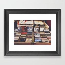 vintage records Framed Art Print