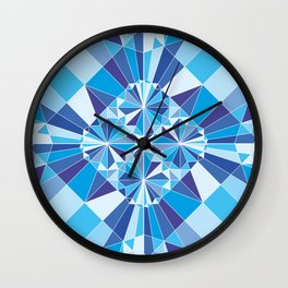 Kaleidoscopic whale Wall Clock