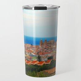 Cityscape of Cefalu Italy Travel Mug