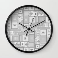 popart Wall Clocks featuring ScrollBar PopArt by Roberlan Borges