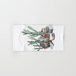 Potted Cacti + Succulents Rose Gold Hand & Bath Towel