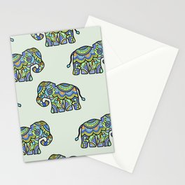 Indian elephants Stationery Cards